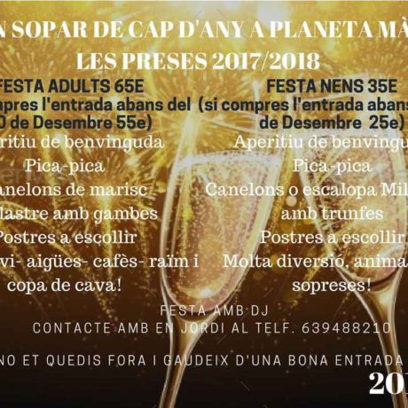 Sopars cap d' any a Planeta Magic les Preses